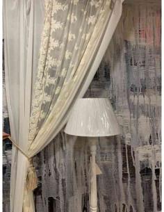 Tenda in cotone panna Adeline