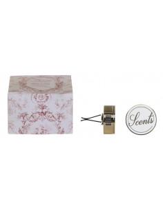 Tenda parafreddo misto lino/cotone con ricamo