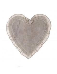 Decoro cuore in metallo Butterfly