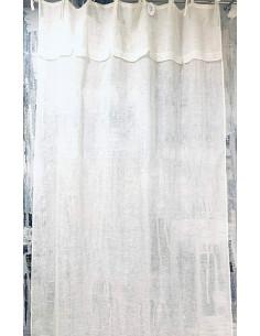 Tenda per porte e per finestre in tessuto di colore bianco