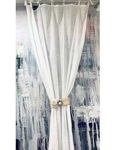 Tenda per porte o finestre in tessuto di colore bianco