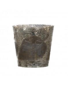 Set/2 pezzi contenitore in vimini e pelliccia ovale