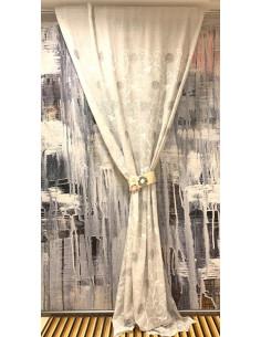 Tenda in cotone bicolor Bows cm. 150x300