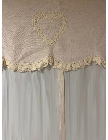 Angelica Home Country Tenda A Pacchetto Shabby Chic 140 X 290 Cm