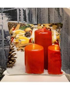 Cuscino Tondo con Rouches Ass  Deco Rose Collection by Blanc Mariclò